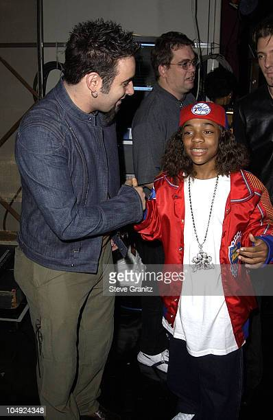 Chris Kirkpatrick Lil' Bow Wow during The 29th Annual American Music Awards Arrivals at The Shrine Auditorium in Los Angeles California United States