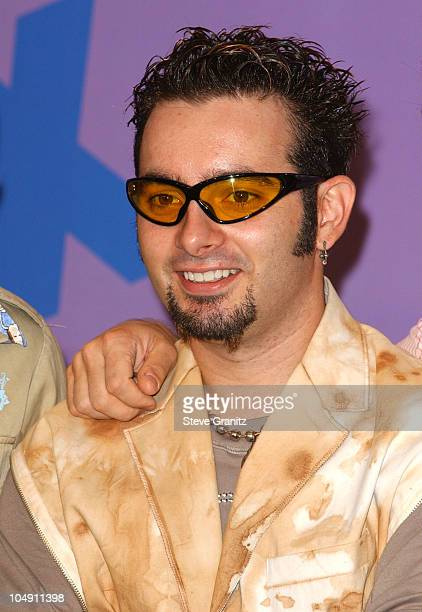 Chris Kirkpatrick of NSYNC during The 2001 Teen Choice Awards Press Room at Universal Amphitheater in Universal City California United States