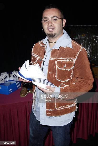 Chris Kirkpatrick with Adidas during 2002 Billboard Music Awards Backstage Creations Talent Retreat Show Day at MGM Grand Hotel in Las Vegas Nevada...