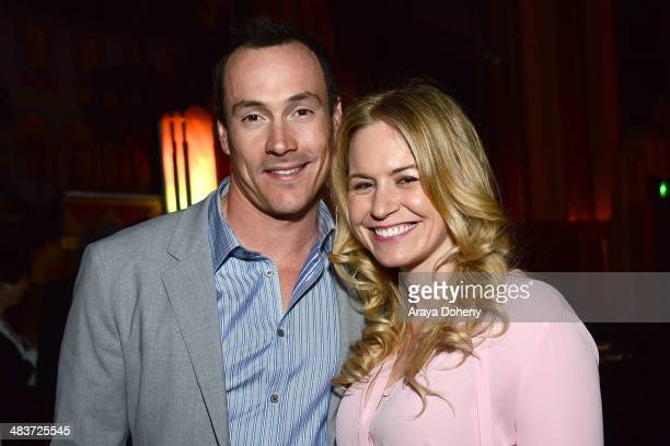 Chris Klein and Laina Rose Thyfault attend the after party of Screen Media Films' premiere of 'Authors Anonymous' at on April 9 2014 in Westwood...