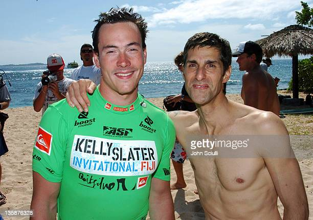 Chris Klein and Perry Farrell during Kelly Slater Invitational Fiji Day 4 Celebrity ProAm Presented by Quiksilver at Restaurants in Tavarua Island...