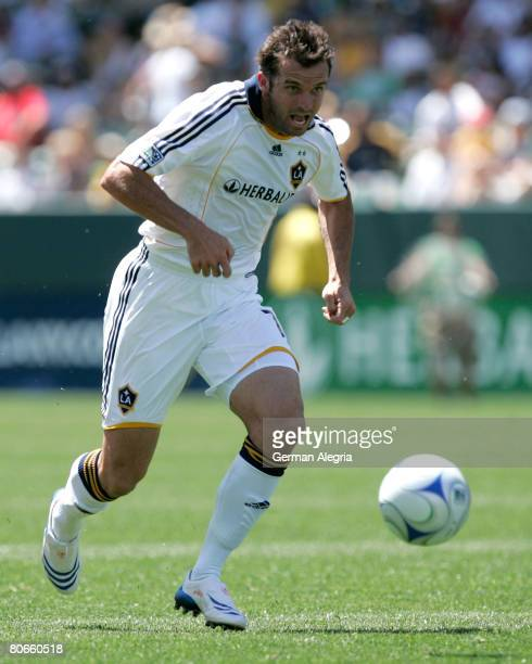 Chris Klein of LA Galaxy in action against Toronto FC defensive line during the game at Home Depot Center on April 13 2008 in Carson California