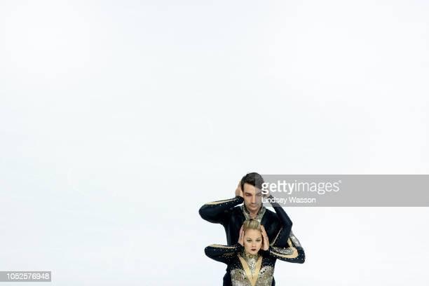 Chris Knierim and Alexa Scimeca Knierim of the USA compete in the Pairs Short Program during the ISU Grand Prix of Figure Skating Skate America at...