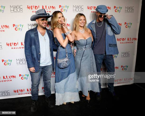 Chris Knight Keltie Knight Vanessa Ray and Jake Wilson attend Heidi Klum's 18th annual Halloween Party presented by Party City at the Magic Hour...