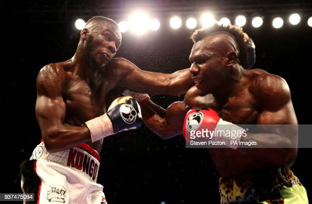 Chris Kongo against Serge Ambomo in the Welterweight contest at the O2 Arena London
