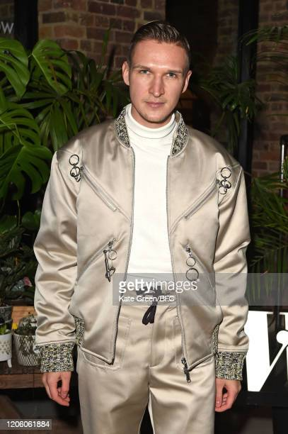 Chris Kowalski attends the Wolf Badger 10th Year Anniversary party during London Fashion Week February 2020 at Coal Drops Yard on February 13 2020 in...