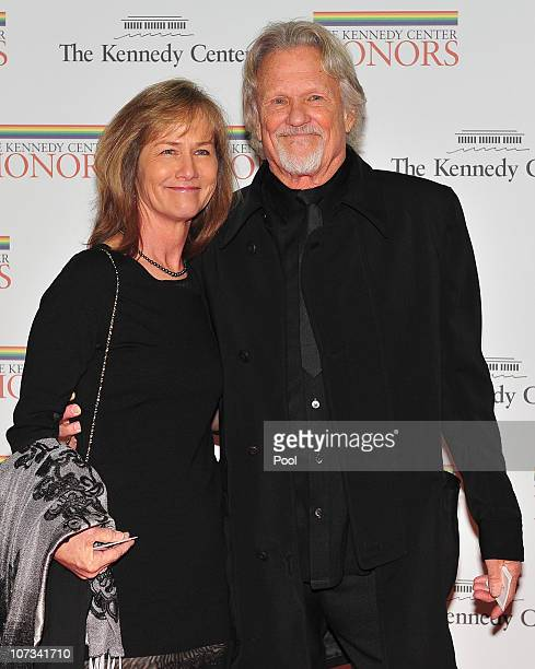 Chris Kristofferson and his wife Lisa arrive for the formal artist's dinner for the Kennedy Center Honors at the United States Department of State...