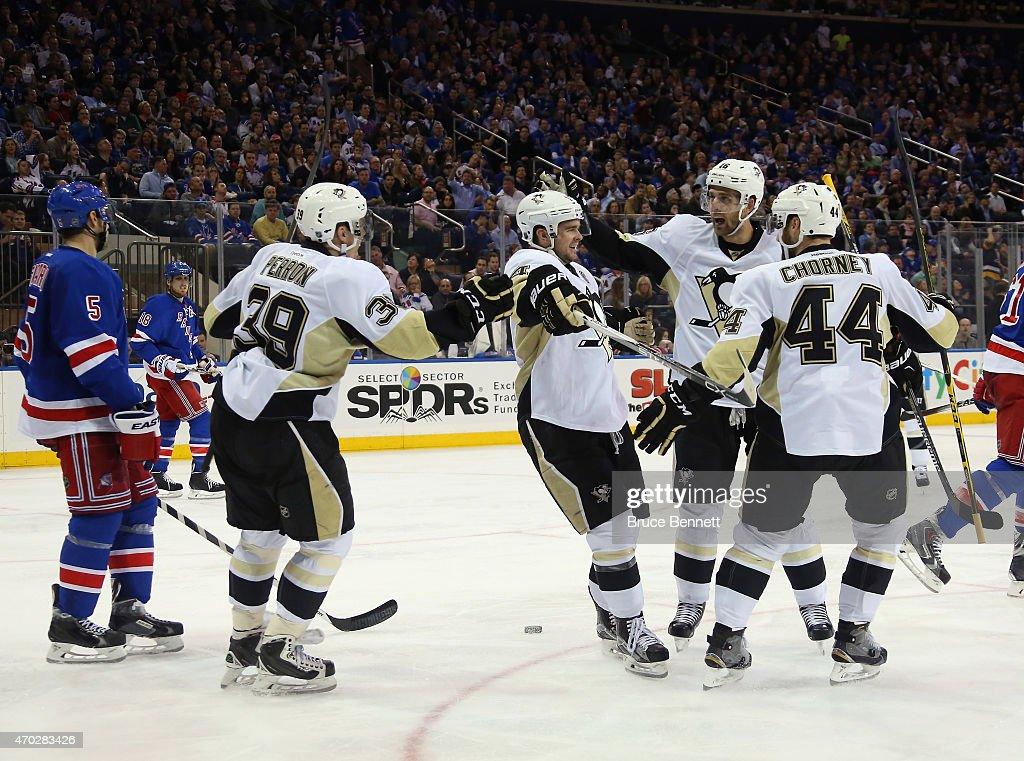 Pittsburgh Penguins v New York Rangers - Game Two : News Photo
