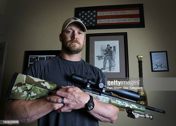 Chris Kyle a retired Navy SEAL and bestselling author of the book 'American Sniper The Autobiography of the Most Lethal Sniper in US Military...