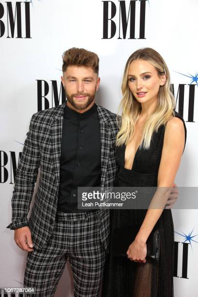 Chris Lane and Lauren Bushnell attend the 66th Annual BMI Country Awards at BMI on November 13 2018 in Nashville Tennessee