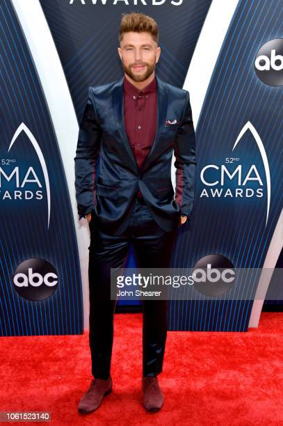 Chris Lane attends the 52nd annual CMA Awards at the Bridgestone Arena on November 14 2018 in Nashville Tennessee