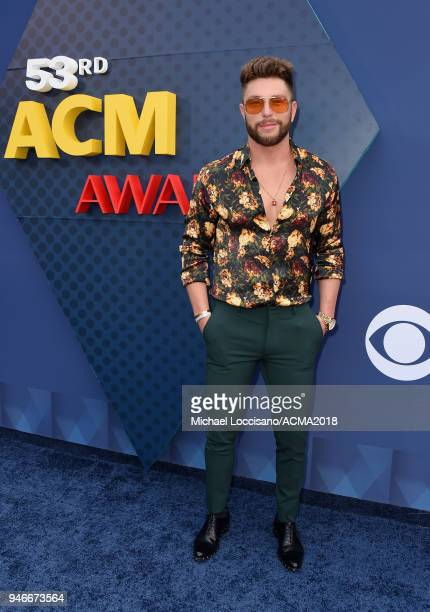 Chris Lane attends the 53rd Academy of Country Music Awards at MGM Grand Garden Arena on April 15 2018 in Las Vegas Nevada