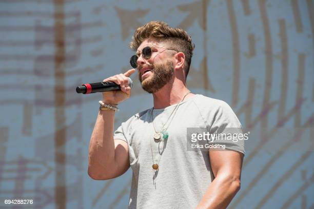 Chris Lane performs during the 2017 CMA Music Festival on June 9 2017 in Nashville Tennessee