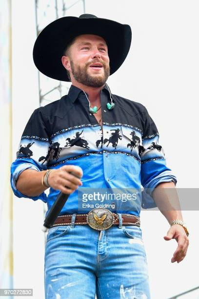 Chris Lane performs during the 2018 CMA Music festival at the on June 8 2018 in