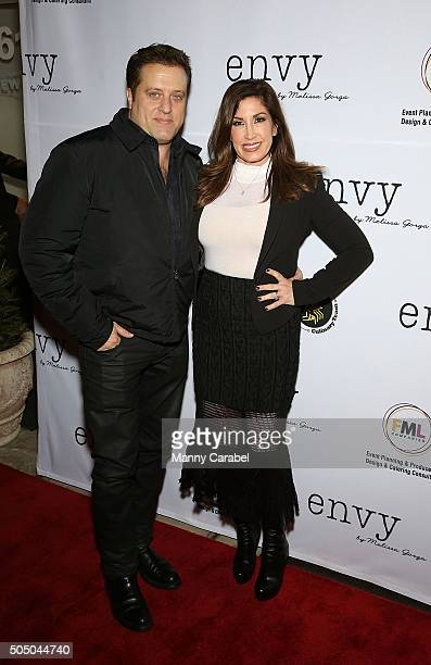 Chris Laurita and Jacqueline Laurita attend the Grand Opening of envy by Melissa Gorga Boutique on January 14 2016 in Montclair New Jersey