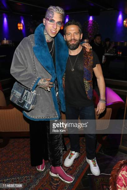 Chris Lavish and guest attend DuJour Media's Jason Binn and The Richards' Sisters Spring Celebration at Gospel on May 01 2019 in New York City