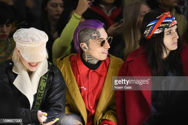 Chris Lavish and Malgosia Garnys attend the Taoray Wang front row during New York Fashion Week The Shows at Gallery II at Spring Studios on February...
