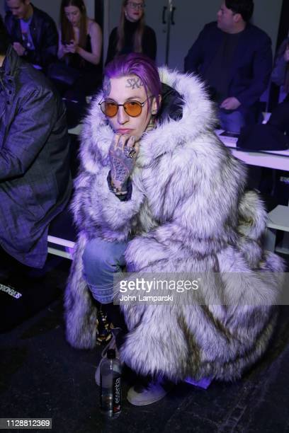 Chris Lavish attends Seven Crash front row during New York Fashion Week The Shows at Industria Studios on February 10 2019 in New York City