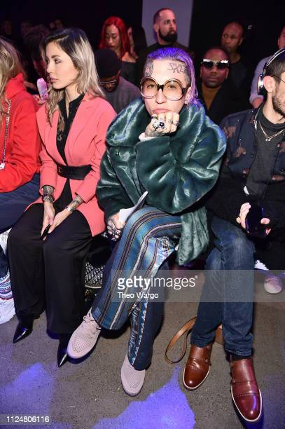 Chris Lavish attends the Afffair front row during New York Fashion Week The Shows at Gallery II at Spring Studios on February 13 2019 in New York City