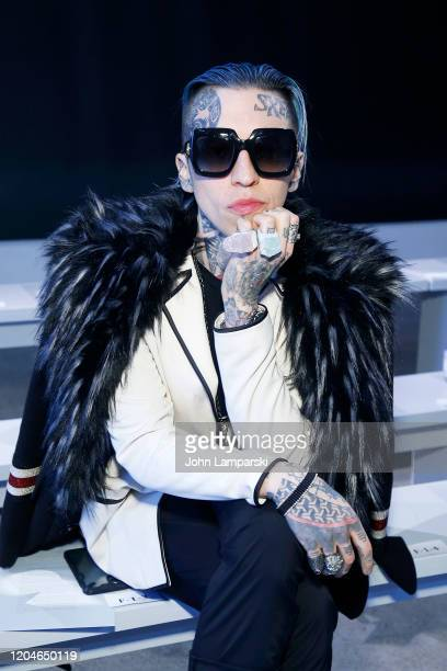 Chris Lavish attends the Blancore fashion show during February 2020 New York Fashion Week The Shows at Gallery II at Spring Studios on February 07...