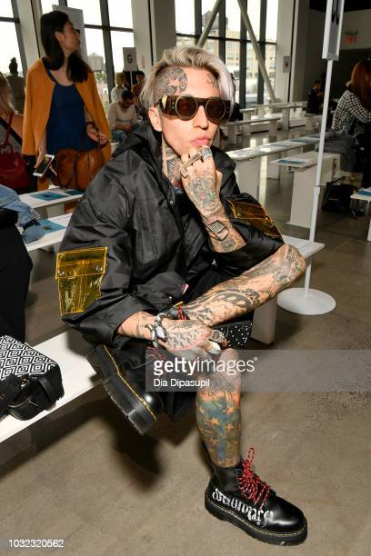 Chris Lavish attends the C Plus Series front Row during New York Fashion Week The Shows at Gallery I at Spring Studios on September 12 2018 in New...