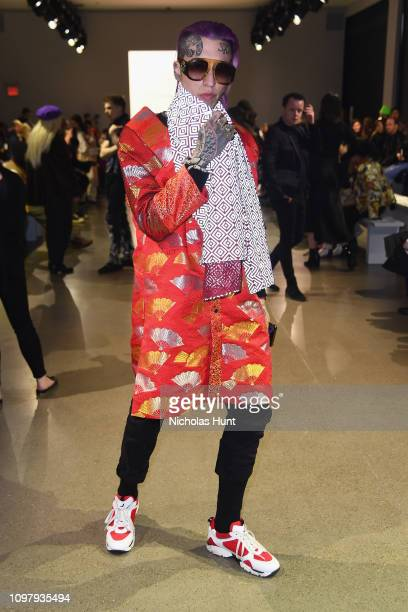 Chris Lavish attends the Cong Tri front row during New York Fashion Week The Shows at Gallery II at Spring Studios on February 11 2019 in New York...