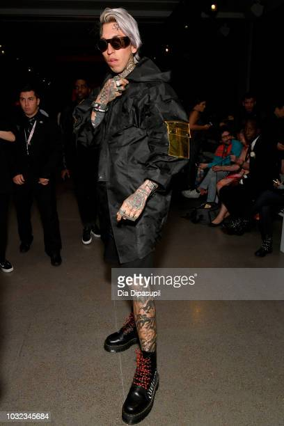 Chris Lavish attends the Dakun X Liu Yong front Row during New York Fashion Week The Shows at Gallery II at Spring Studios on September 12 2018 in...