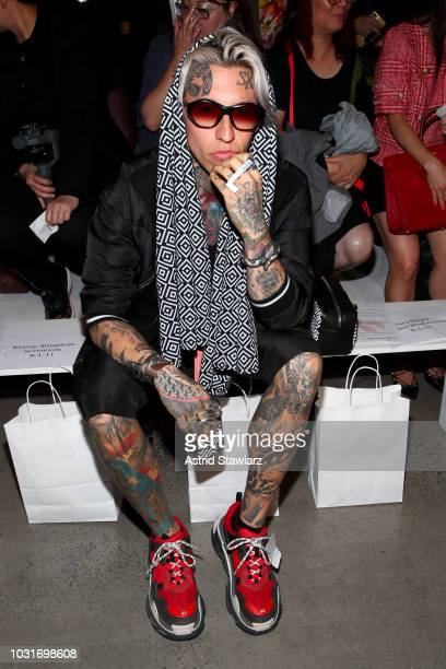 Chris Lavish attends the Dan Liu S/S19 front Row during New York Fashion Week The Shows at Gallery I at Spring Studios on September 11 2018 in New...
