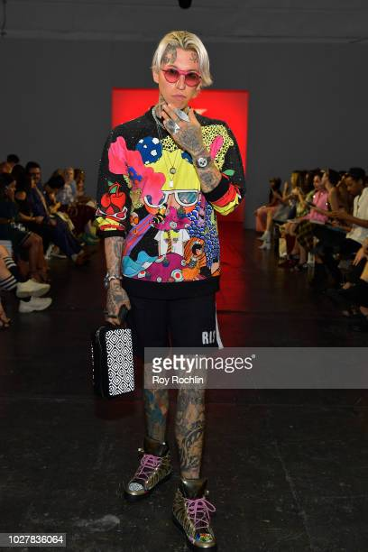 Chris Lavish attends the Hardware LND Front Row during New York Fashion Week The Shows at Industria Studios on September 6 2018 in New York City