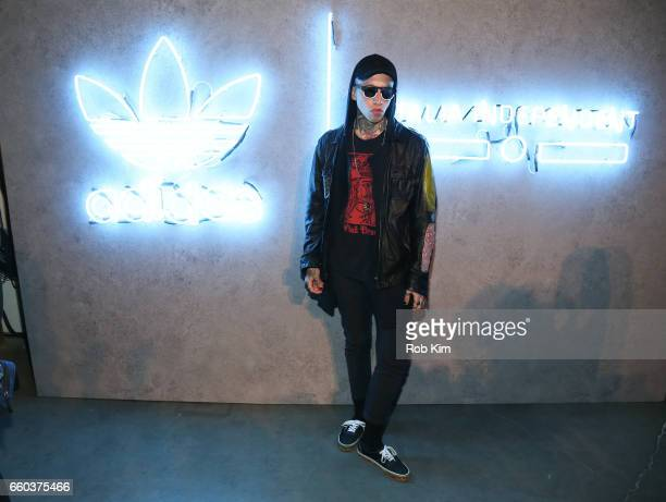 Chris Lavish attends the Italia Independent x adidas Originals Limited Edition 70's Inspired Collection Launch Event at Pioneer Works on March 29...
