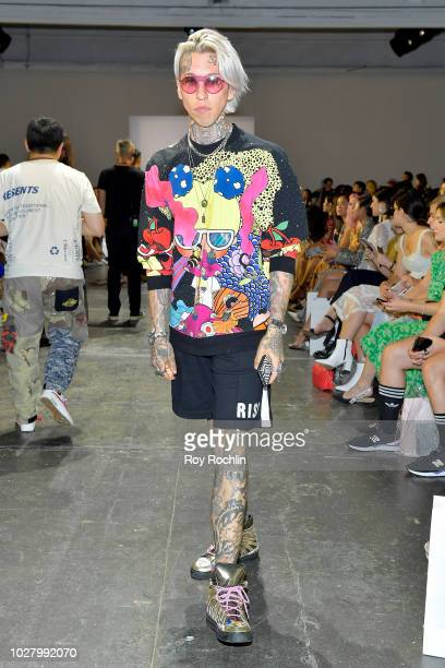 Chris Lavish attends the Lan Yu front row during New York Fashion Week The Shows at Industria Studios on September 6 2018 in New York City