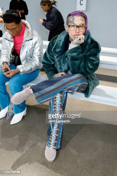Chris Lavish attends the Luar front row during New York Fashion Week The Shows at Gallery II at Spring Studios on February 13 2019 in New York City