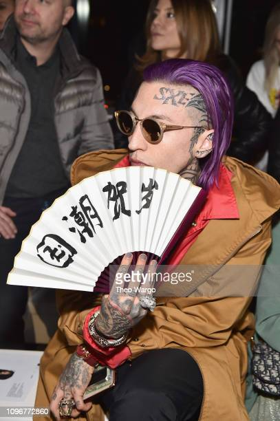 Chris Lavish attends the Pony x Harbin front row during New York Fashion Week The Shows at Gallery I at Spring Studios on February 9 2019 in New York...