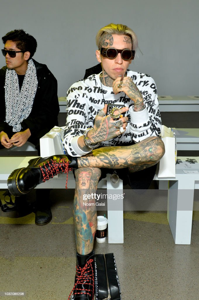 Chris Lavish attends the Semir X CJ Yao front Row during New York Fashion Week: The Shows at Gallery II at Spring Studios on September 12, 2018 in New York City.