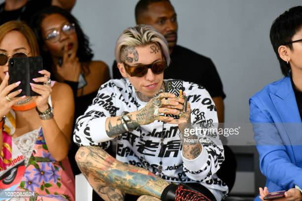 Chris Lavish attends the Semir X CJ Yao front Row during New York Fashion Week The Shows at Gallery II at Spring Studios on September 12 2018 in New...