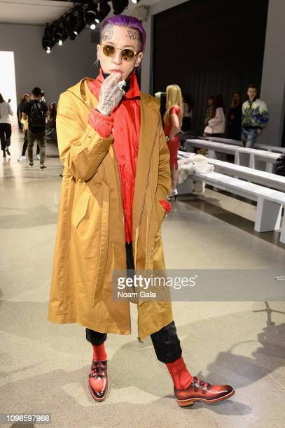 Chris Lavish attends the Taoray Wang front row during New York Fashion Week The Shows at Gallery II at Spring Studios on February 9 2019 in New York...