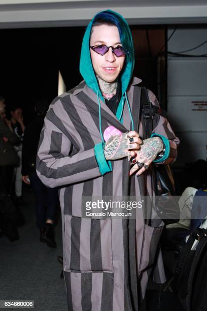 Chris Lavish backstage before the Telfar fashion show February 2017 New York Fashion Week The Shows at Skylight Clarkson Sq on February 10 2017 in...