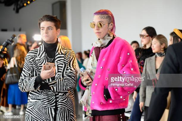 Chris Lavish backstage for Noon By Noor fashion show during New York Fashion Week The Shows at Gallery II at Spring Studios on February 7 2019 in New...