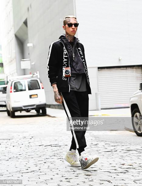 Chris Lavish is seen at a photoshoot in SoHo on June 4, 2021 in New York City.