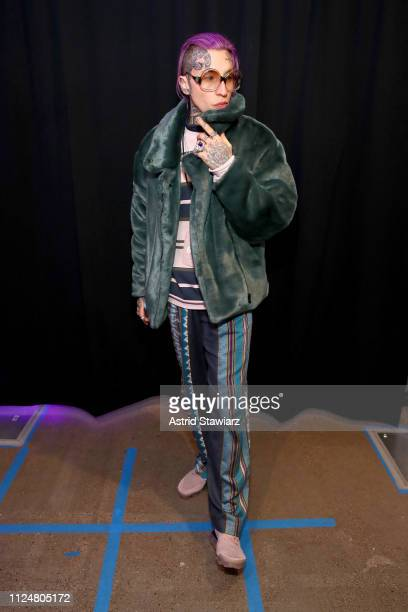 Chris Lavish poses backstage for Afffair fashion show during New York Fashion Week The Shows at Gallery II at Spring Studios on February 13 2019 in...
