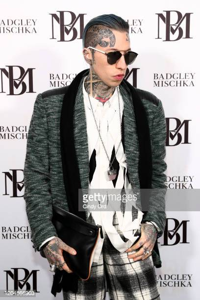 Chris Lavish poses backstage for Badgley Mischka during New York Fashion Week: The Shows at Gallery I at Spring Studios on February 08, 2020 in New...