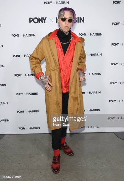 Chris Lavish poses backstage for Pony x Harbin fashion show during New York Fashion Week The Shows at Gallery I at Spring Studios on February 9 2019...