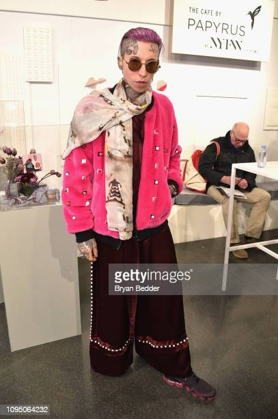 Chris Lavish visits The Café by Papyrus at NYFW The Shows during New York Fashion Week at Spring Studios on February 7 2019 in New York City