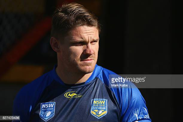 Chris Lawrence walks out of the tunnel during a City NSW Origin training session at Leichhardt Oval on May 3, 2016 in Sydney, Australia.