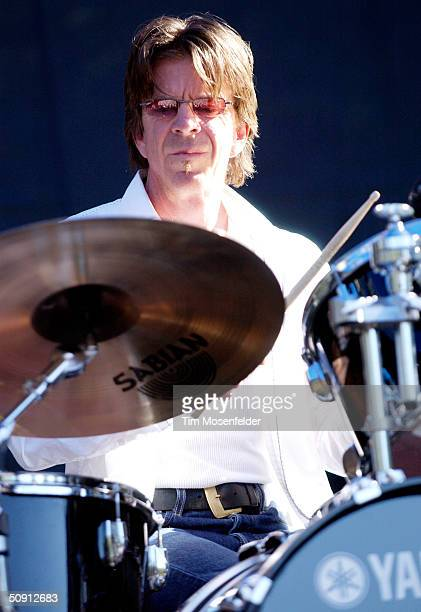 Chris Layton of 'Double Trouble', backing group of the late guitarist Stevie Ray Vaughn, at the 12th Annual Santa Cruz Blues Festival on May 30, 2004...