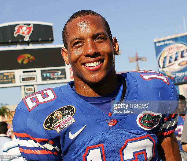 Chris Leak of the Florida Gators walks off the field after his team defeated the Iowa Hawkeyes during the Outback Bowl on January 2 2006 at Raymond...
