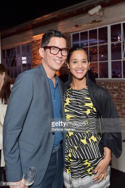 Chris Lee and Camila Lowry attend Mr Chow 50 Years on February 16 2018 in Vernon California