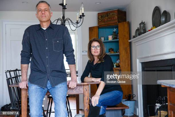 Chris left and Paula White pose for a portrait at their home in Duxbury MA on March 5 2018 The Whites started a company called 600 lb gorillas...