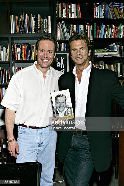 Chris Lemmon and Lorenzo Lamas during Chris Lemmon Party for His Book A Twist of Lemmon May 16 2006 at Book Soup in Los Angeles California United...