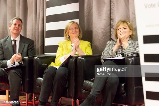 Chris Leslie Sarah Wollaston and Anna Soubry at Change UK The Independent Group's West Midlands election rally on May 10 2019 in Birmingham United...